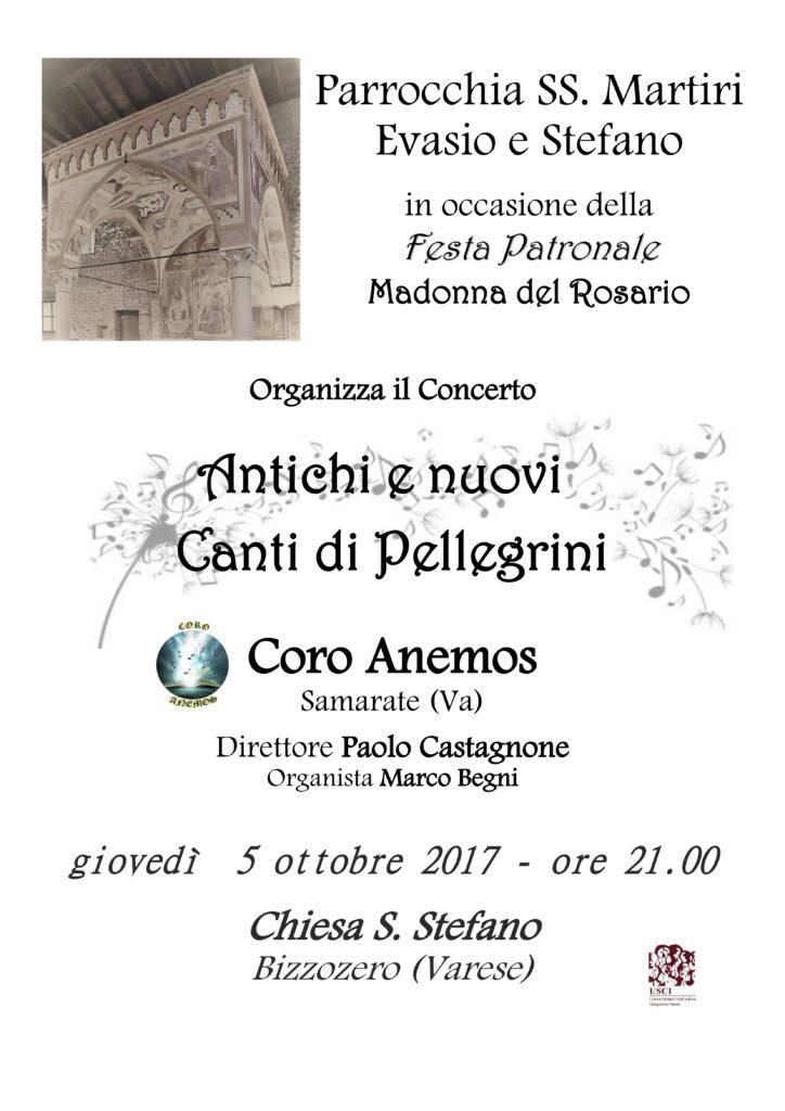 Antichi e nuovi canti di Pellegrini, Bizzozero